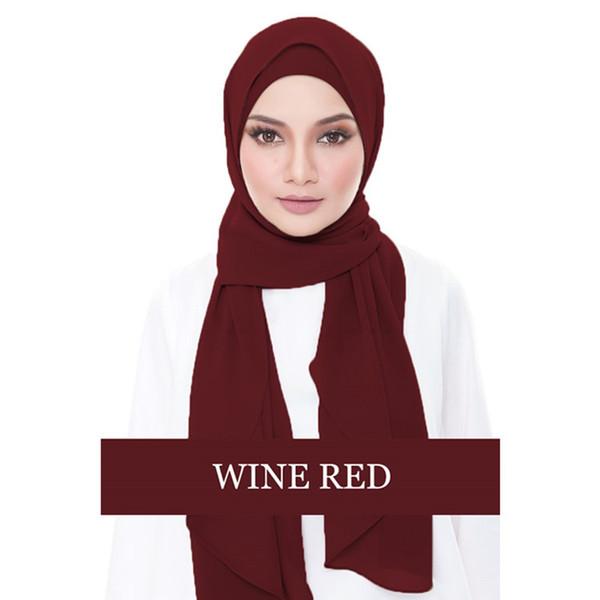 Sciarpa musulmana musulmana della rappezzatura di Hijab della pianura di nuova sciarpa chiffona musulmana + colori interni di Hijab 11 Trasporto libero
