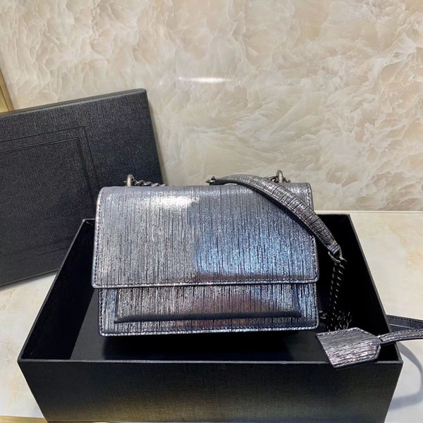Fashion Gold Button Messenger Designer Single Shoulder Bag High Quality Leather Brand Silver Gold Bag Chain Female Bag Free Freight 0195