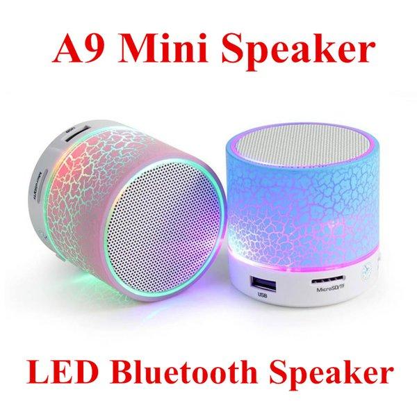 kutu ile Toptan A9 Bluetooth Hoparlör stereo mini bluetooth taşınabilir subwoofer mp3 müzik çalar, USB dizüstü Parti Hoparlör
