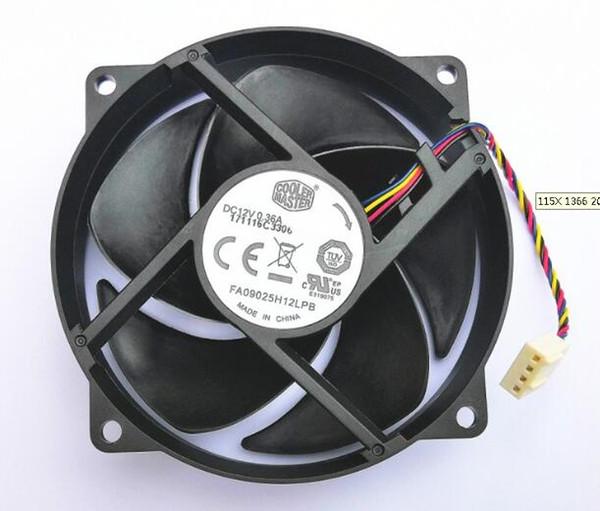 Autentica 9025 9CM 12V 0.36A FA09025H12LPB Ventola CPU circolare a 4 fili Ventola di silenziamento controllata dalla temperatura