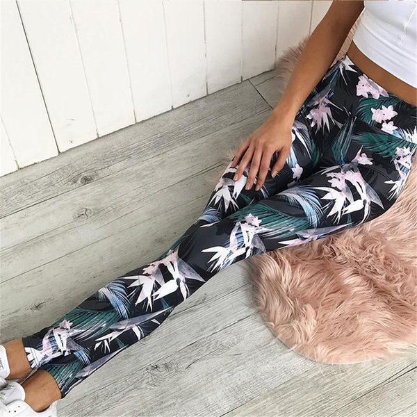 sport leggings high waist compression pants gym clothes running floral print yoga tights women fitness yoga pants - from $15.77