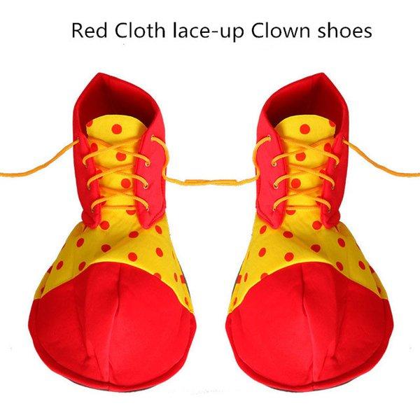 Performance Chaussures de bande dessinée pour le costume de danse de cirque Clown les accessoires chaussures nez éponge COSplay robe robe de danse Chaussures Drôle Bighead Halloween rendom