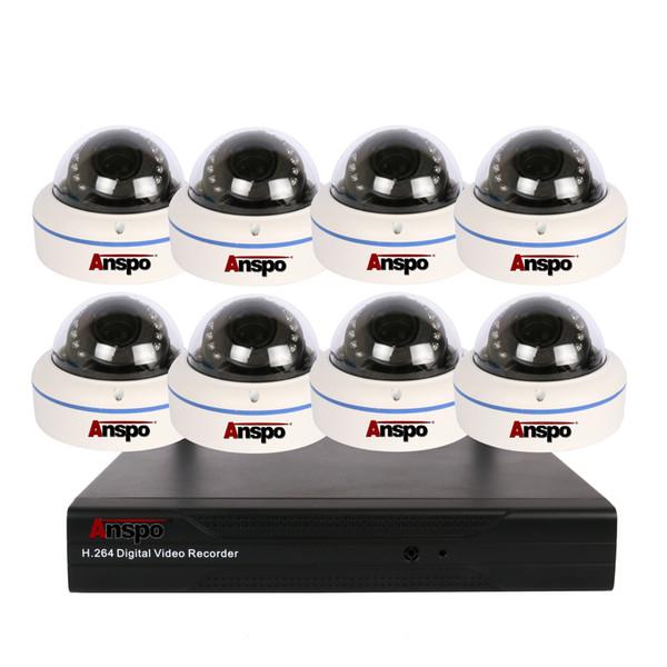 H.265 8CH 2.0MP POE CCTV système NVR 8Pcs HD 2.0MP IP66 VandalProof sécurité intérieure extérieure POE IP caméra IP caméra de surveillance vidéo