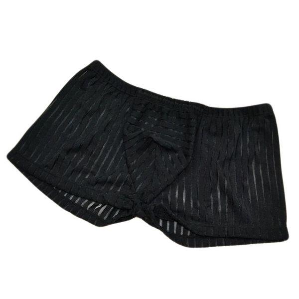 Sexy Men Underwear Boxer Shorts Breathable Mesh Panties Man Low Waist U Convex Pouch Underpants Cueca ropa interior hombre