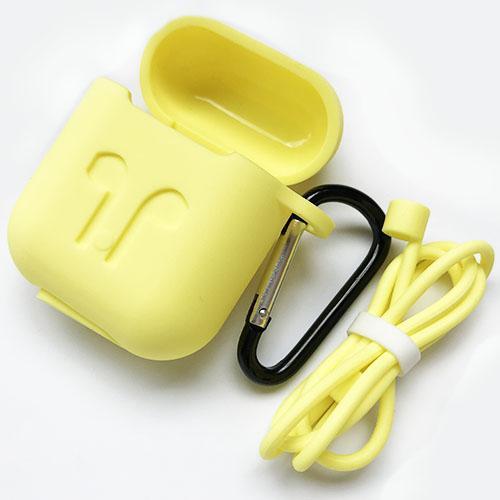 Airpods Funda de silicona para auricular Auricular inalámbrico Bluetooth Funda protectora Cubierta Accesorios con mosquetón Cuerda anti-perdida libre de DHL