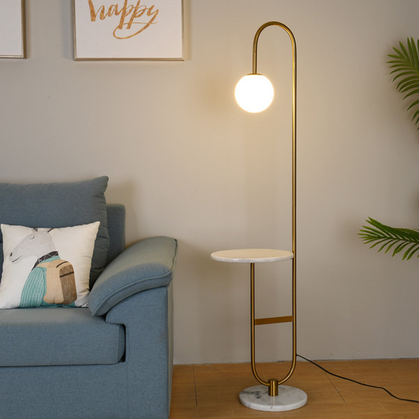 2019 Creative Modern Simple Living Room Floor Lamp Nordic Glass LED  Standing Lamp Bedroom Hotel Room Tea Table Floor Lamps Home Decor From ...