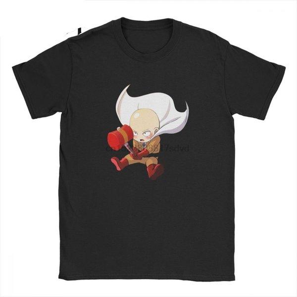 Мужчины t-рубашки одного подзатыльника один удар мужчины футболка досуг хлопок тройники с коротким рукавом ОРМ Сайтама Oppai аниме манга топ классический