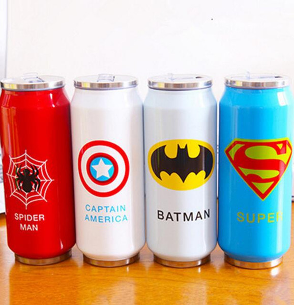 500ml Vacuum Flasks Cup Stainless Steel Water Bottles Heroes Union Thermal Insulation gift cup home travel use wholesale