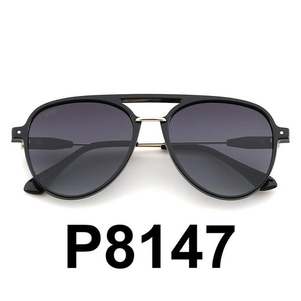 2019 COSTA/P8147 Fashion Polarized Sunglasses Brand Double Beams Shades Pilot Sunglasses TAC Lens Candy Color Goggle Oculos