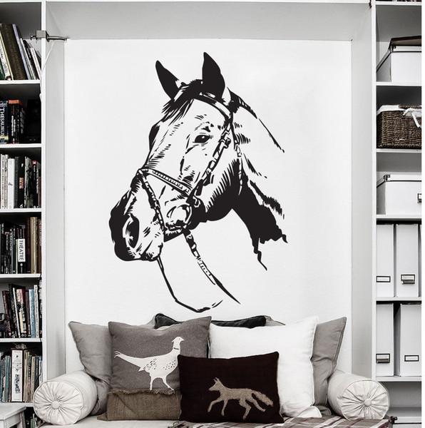 73X50cm Farm Ranch Animal Horse Wall Decal Art Decor Sticker Removable Vinyl Wall Stickers Bedroom Window Home Decor