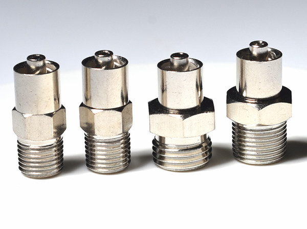 best selling locking head luer lock adapter screw end G1 8,G1 4, M10*1, M12*1 optional for automatic dispensing valve