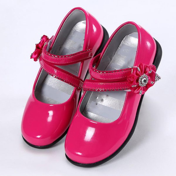 Mädchen Kleid Schuhe Kinder Leder Schuhe Mädchen Prinzessin Herbst Mode Blume Rot Schwarz Flache Tanzparty Kinder Hochzeit