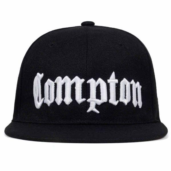 2019 nuovo COMPTON ricamo Berretto da baseball Hip Hop Snapback caps flat fashion sport Hat Per unisex regolabile cappelli di papà