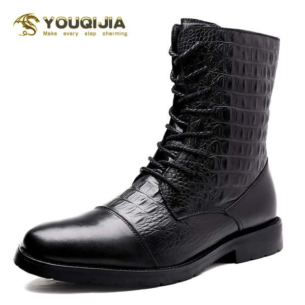 winter outdoor boots high-boots field motorcycle strongman plus velvet warmth high wear-resistant snow