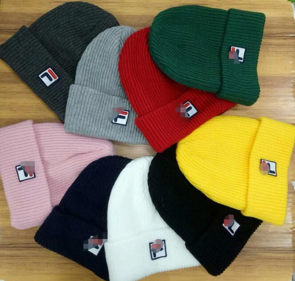 knitted women caps hats Diamond Embroidery mens Skullies warm Beanies Unisex 21 Solid color Elastic