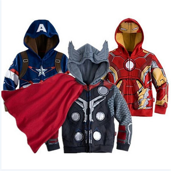 2018 Autumn Boys Jackets For Baby Boys Coats Children Spiderman Avengers Iron Man Hooded Jacket Kids Outerwear Toddler Clothes