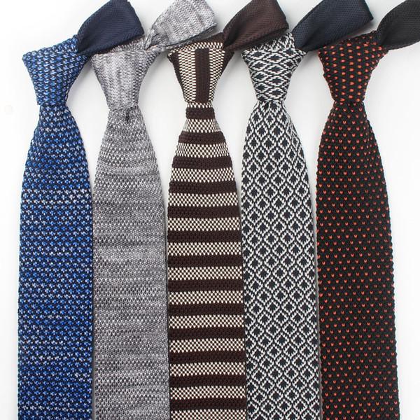 Hot tie arrow type sharp corner men's wool tie Korean version width 6cm autumn and winter narrow tie wholesale custom