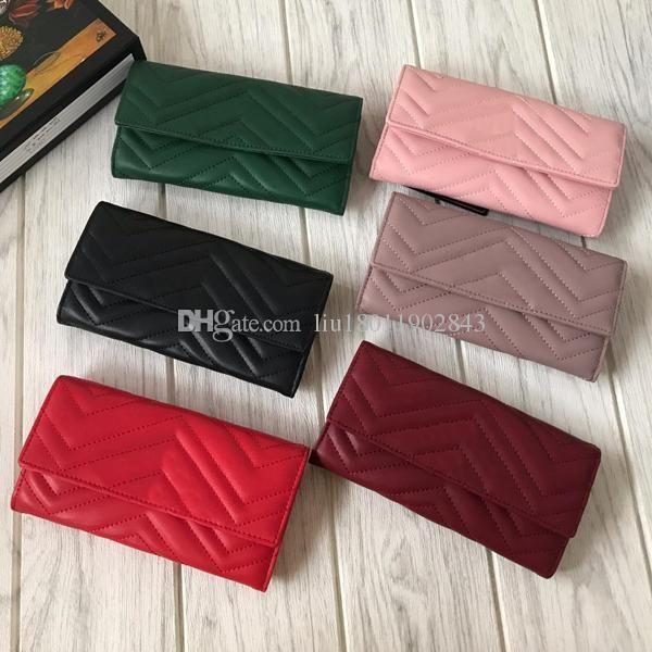 Toptan çok renkli cüzdan, Insansı tasarım Oluklu çanta, 19 cm uzun deri cüzdan, Çoklu kart yuvası cüzdan, bayan çevirme çanta 443436