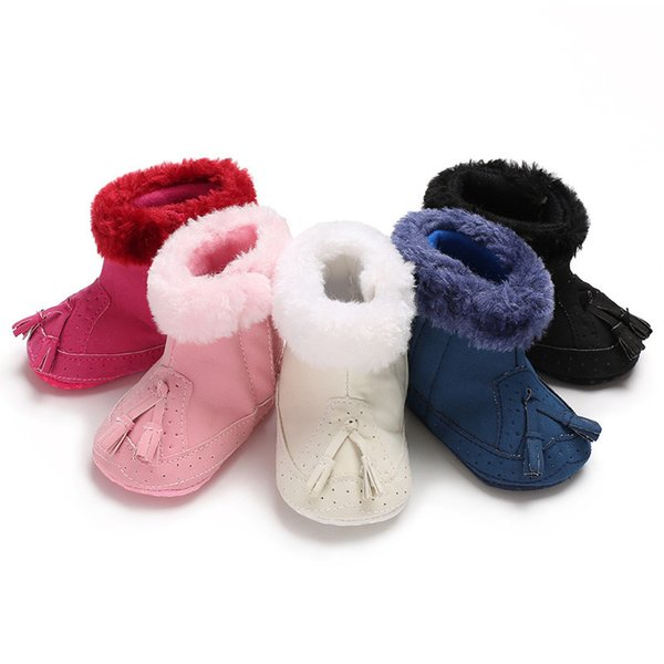 good quality Fashion children shoes Baby Boy Girl Soft Booties Tassels Snow Boots Toddler Warm Shoes chaussure enfant sapato infantil