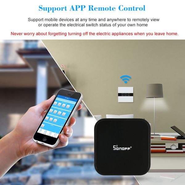 Sonoff RF Bridge Smart Wifi Switch Control remoto inalámbrico Control del hogar Trabaje con Alexa y Google Android iOS 433MHz