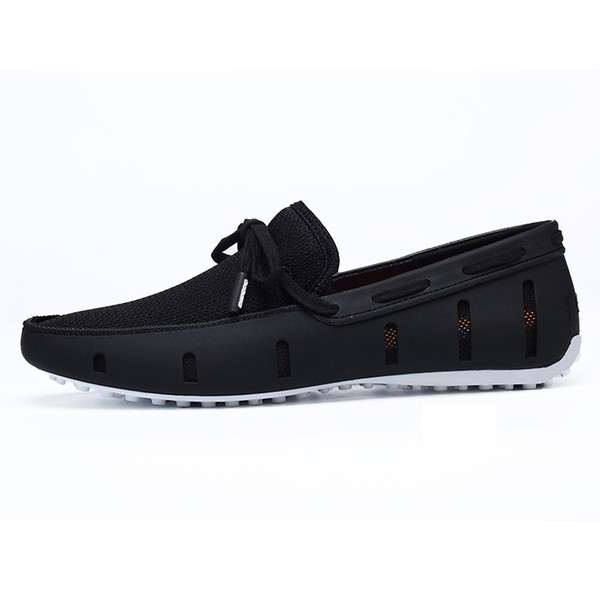 Hot Sale-Ventilate Boat Shoes 2018 Slip On Shoes Summer Comfortable Men's Loafers 20D50 n096