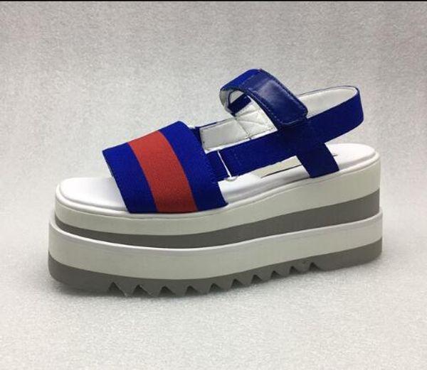 Last Stella Mccartney sandals Shoes Top Quality Genuine Leather Women Fashion Platform Wedge Platform Oxfords sandals 11170