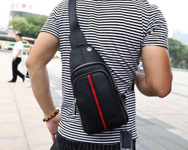 2019 новый натуральная кожа поясная сумка мужчины кожа плечо мужчины грудь сумки мода путешествия Crossbodys сумка человек сумка 29x19x5cm