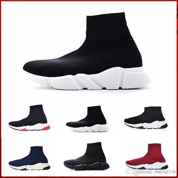 2018 Speed Socke hochwertige Speed Trainer Freizeitschuhe für Männer und Frauen Speed Stretch-Schuhe Mid Sneakers Größe mit Box