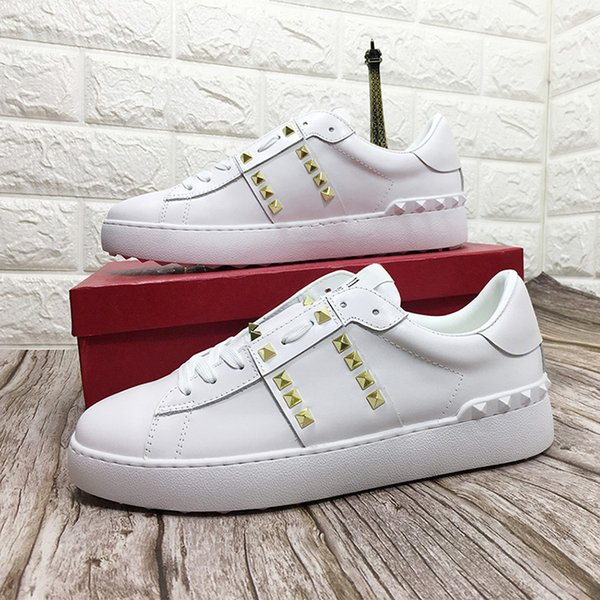 Trendy Lady Comfort Casual Dress Shoe Sport Sneaker Mens Casual Leather Shoes Designers Womens Mixs Open Lowtop Sneakers