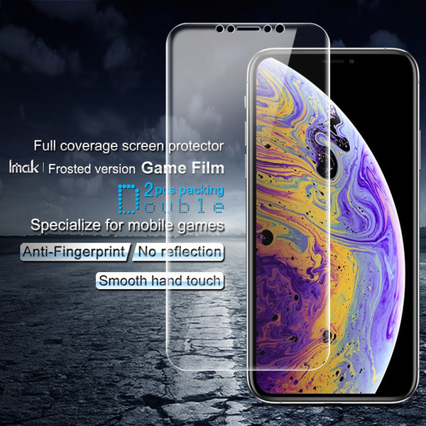 2PCS IMAK Frosted Version Game Film for iPhone XS / X Full Coverage Ultra Clear Hydrogel for iPhone XS / X Screen Protector