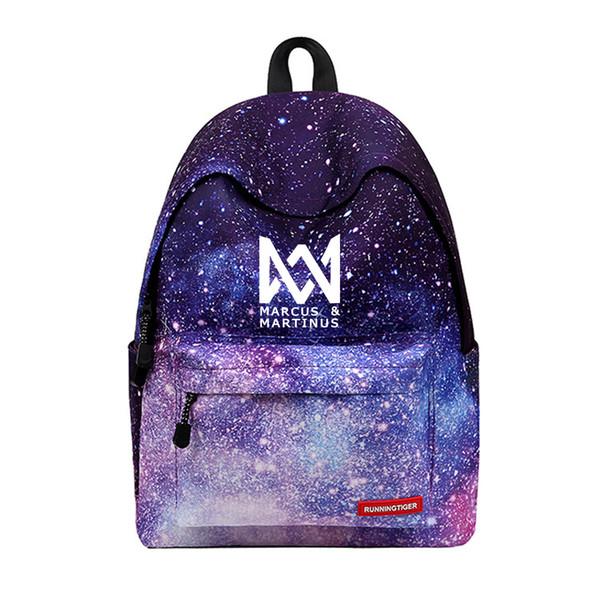 Designer-Marcus und Martinus Rucksack Neue Ankunft Druck Frauen Stern Laptop Taschen Reisen Kinder Schultasche für Galaxy Rucksäcke
