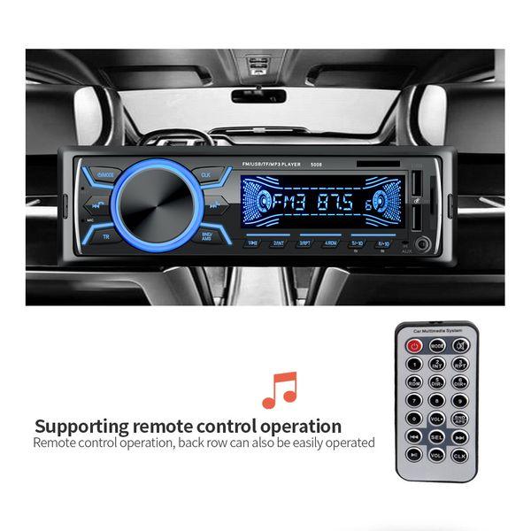 Bluetooth 2USB 12V Stereo Autoradio Araç Radyo In-dash 1 Din FM AuxIn Alıcı SD USB MP3 / WMA / WAV Araç Ses Oynatıcı
