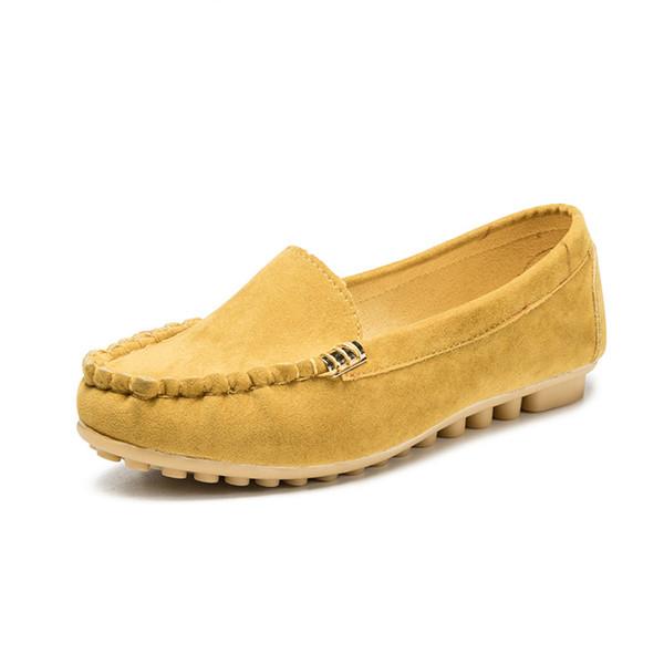 Plus Size 35-40 Frauen Wohnungen Schuhe 2019 Süßigkeit-Farben-Beleg auf flache Schuhe Ballerinas Bequeme Damen Schuh