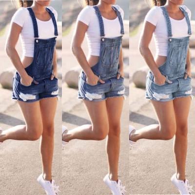 Art- und Weisedenim-Frauen-Sommer-neue Schellfisch-Overall-Jeans-Kurzschluss-Overalls und Spielanzug-Spielanzugtropfenverschiffen gute Qualität
