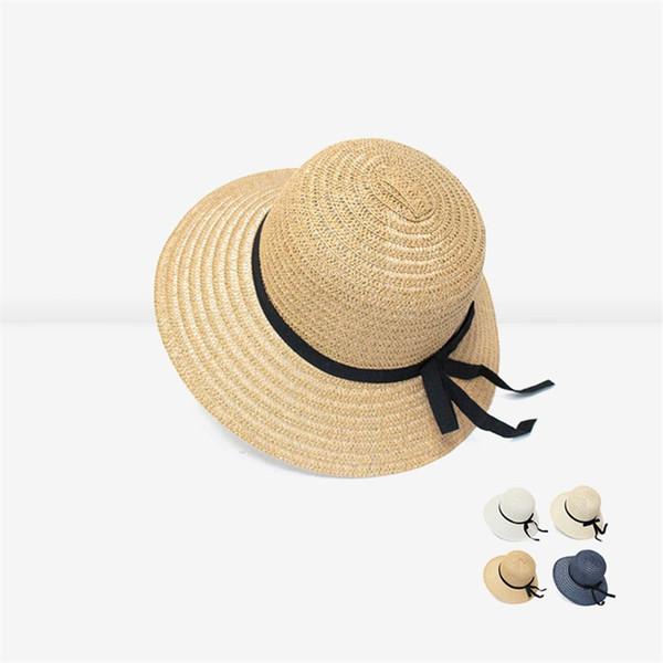 Women Sunhat Big Sun-proof Beach Hat Designer Hats Caps Womens Straw Hat 4 Colors Summer Hats