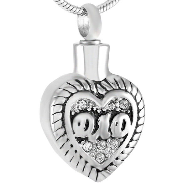 Stainless Steel Cremation Dad In My Heart Engravable Keepsake for Ashes Urn Holder Memorial Pendant Necklace with Chain Jewelry IJD9337