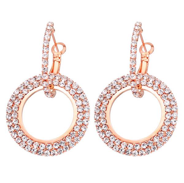 Geometrische Kristall Ohrstecker für Frauen Rund Lange Aussage Ohrringe Modeschmuck Kreative Boucle D'oreille Neue