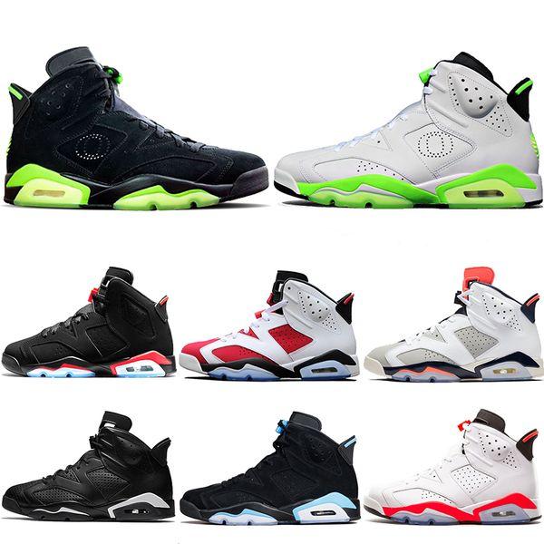 Nike Air Jordan 6 Retro Tasarımcı Erkekler 6 6 s Basketbol Ayakkabı Tinker UNC Mavi Siyah Kedi beyaz Kızılötesi Kırmızı Carmine Maroon Toro Erkek Eğitmen Spor Sneaker Boyutu 41-47