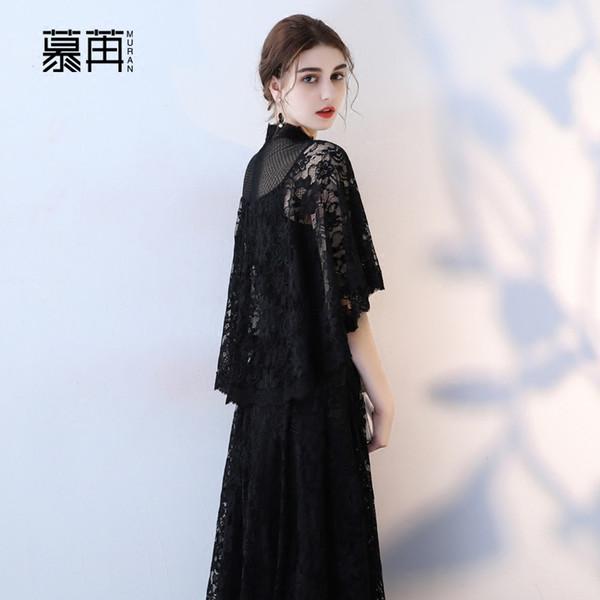 Novo 135 cm preto longo senhora menina mulheres princesa da dama de honra banquete festa bola vestido vestido livre
