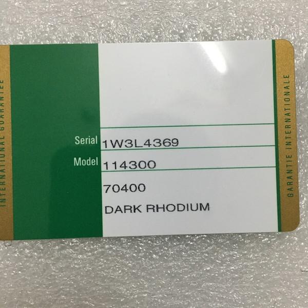 Impresión personalizada Modelo Número de serie Dirección En Tarjeta de garantía Calidad original Caja de reloj verde para cajas Rolex Relojes Folletos Etiquetas Papeles
