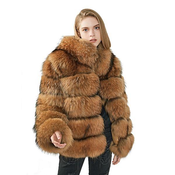 US $350.0 |Großhandel frauen winter pelz gefüttert mantel damen kaninchenfell jacken plus größe winter frauen mäntel waschbärpelz kapuze parka