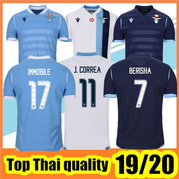 19 20 Lazio maillots de football 2019 2020 SS Lazio maillot de foot LUIS ALBERTO IMMOBILE SERGEJ soccer jersey football shirt
