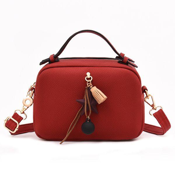 New Luxury Women's Shoulder Bag Fashion Ladies Tassel Handbag High Quality Quality PU Leather Brand Women's Messenger Bag