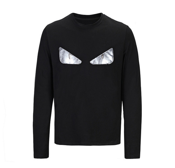 Man Autumn Long Sleeves High Quality T T-shirt Pure Color Youth Slim Male Clothes Men's Wear