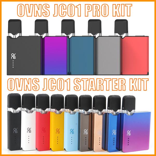 Kit originale OVNS JC01 Pro Pod Starter con batteria 400mAh OVNS Kit JC01 per olio denso Ceramic Coil 1.0ml Cartucce