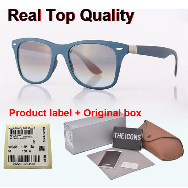 new arrival classic brand design sunglasses men women plank frame metal hinge uv400 glass lens retro eyewear with retail box and label, White;black