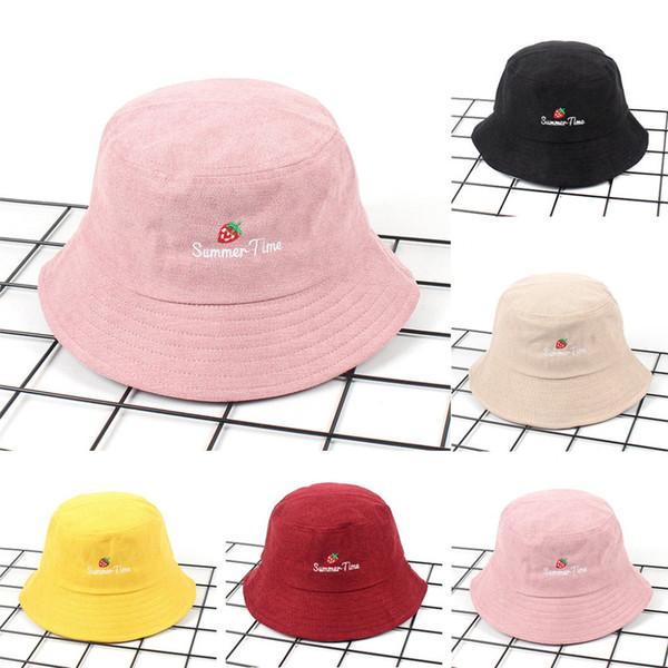 sombrero de cubo bordado para hombres mujeres gorra de pescador de hip hop Adulto sombrero de panama bob amantes de verano sombreros planos viajes al aire libre