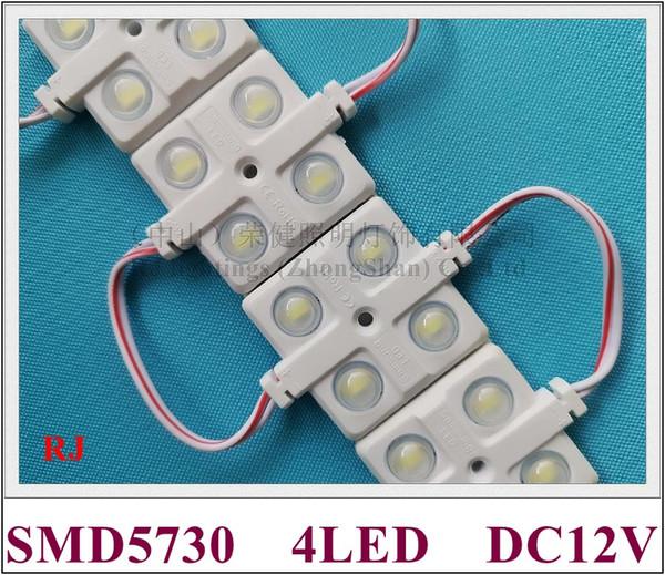 ABS-Einspritzungs-LED-Modul mit wasserdichter LED-Hintergrundbeleuchtung DC12V 2W SMD5730 4led IP65 des Linsenweitwinkel-Lichts
