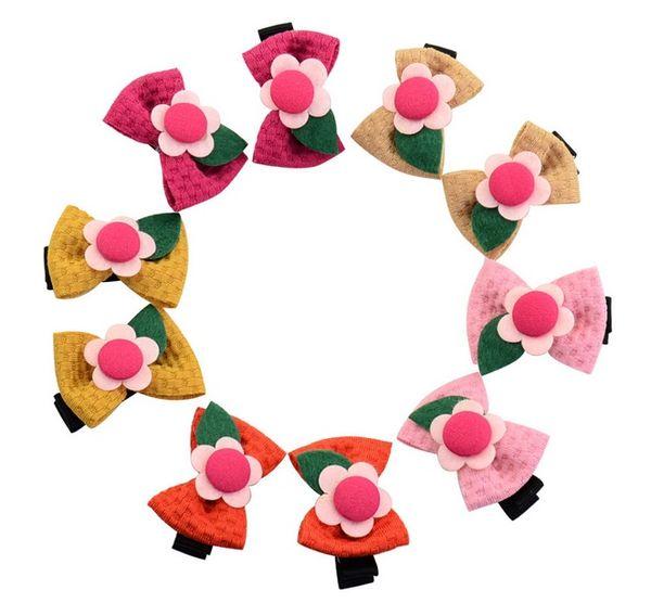 Baby Girls 4cm Solar flowers Bow Hairpin Flash Sparkle Hair Bow Dance Hair Bows Cheerleader for Kids Hair Accessories A179