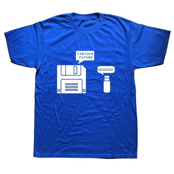 New USB Floppy Disk I Am Your Father T Shirt Men Cotton Short Sleeve Humor T-shirt Casual Camisetas